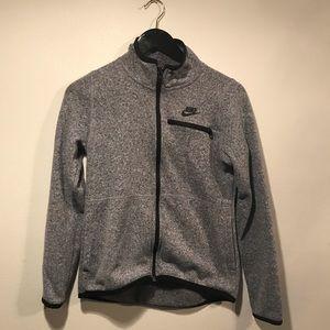 NIKE Gray Zip-Up Fleece Jacket